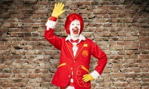 Waving goodbye … Ronald McDonald has been benched.