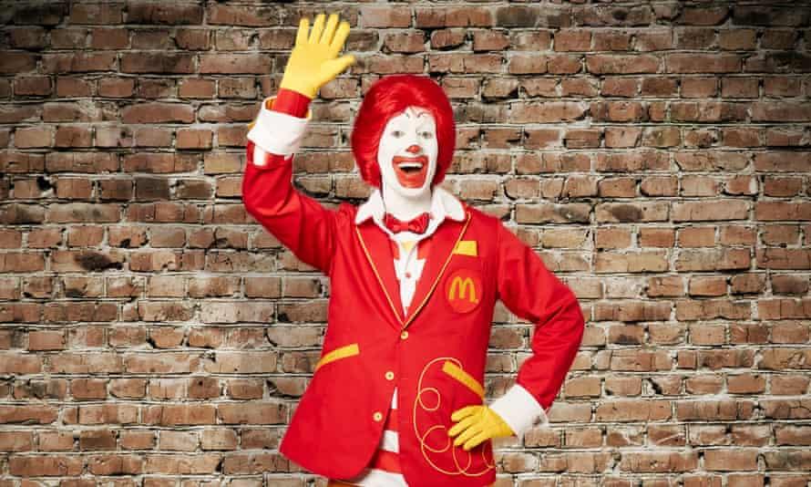 Ronald McDonald waving