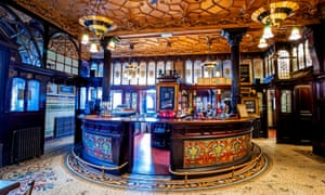 An opulent bar at the Philharmonic Dining Rooms, built by architect Walter W Thomas.