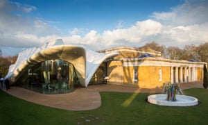 'You need a tool to make inequality visible' … the Sackler gallery and the cafe designed by Zaha Hadid.