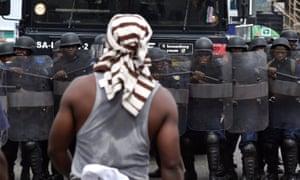 Liberian riot police
