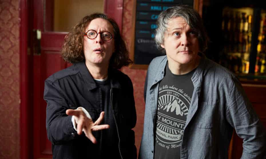 Miles Hunt of The Wonder Stuff (left) and Jonn Penney of Ned's Atomic Dustbin at the Duke William pub in Stourbridge.