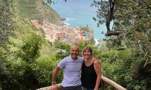 Cath at Cinque Terre.
