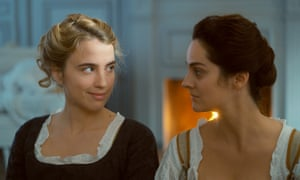 Adèle Haenel, left, and Noémie Merlant in Portrait of a Lady on Fire.