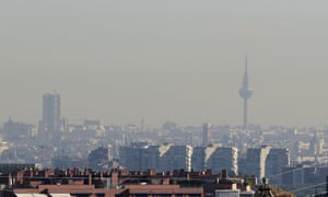 Pollution over Madrid on 13 November.