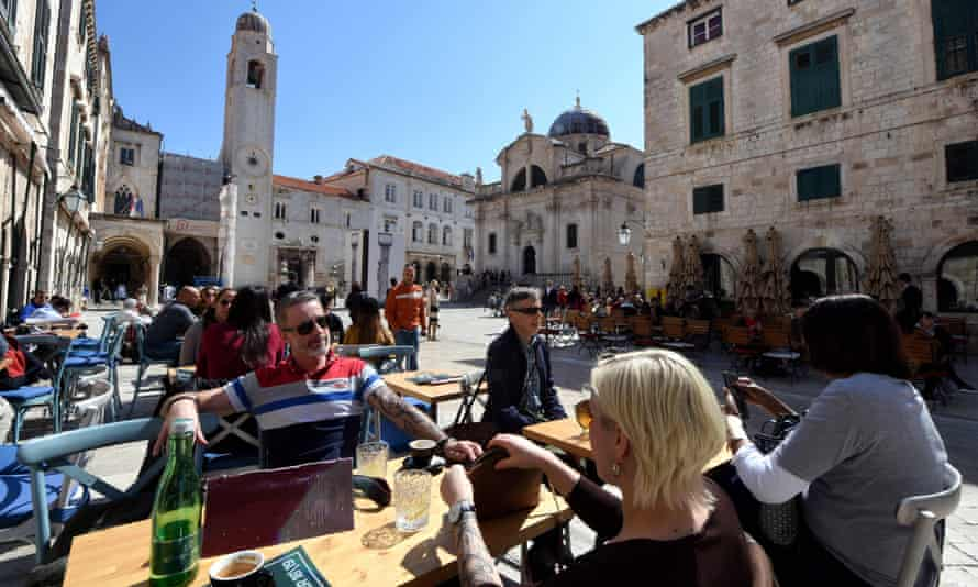Dubrovnik has long been a busy, tourist-packed city. Photograph: Denis Lovrović/AFP/Getty Images