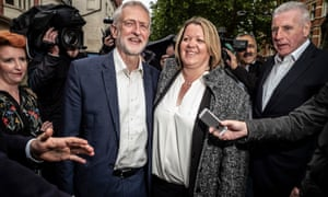 Jeremy Corbyn and Lisa Forbes