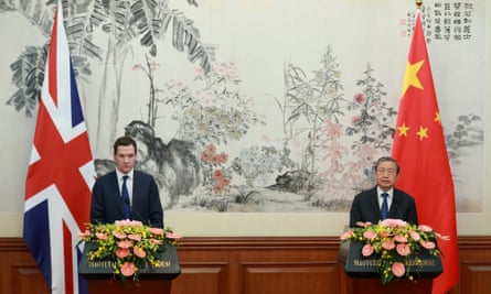 Osborne and Chinese vice-premier Ma Kai in Beijing on Monday.