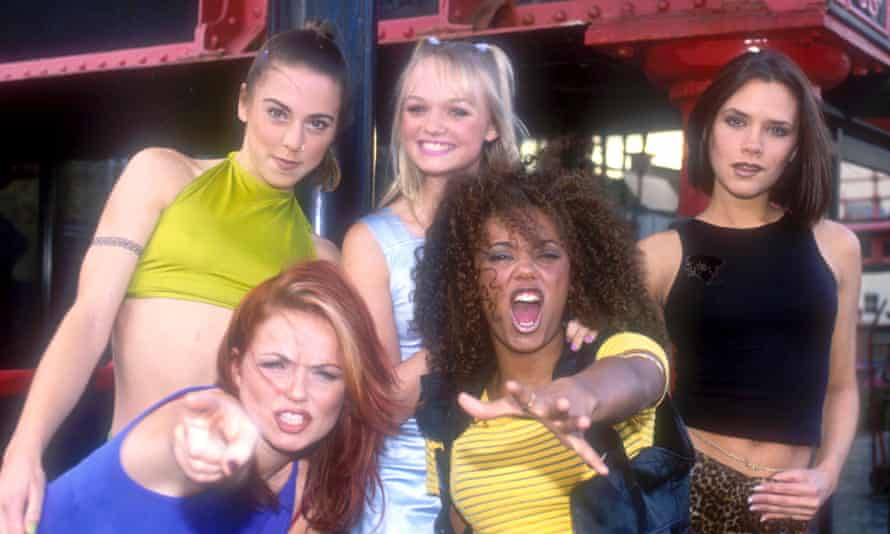 Geri Horner and Mel B with the Spice Girls in 1996.