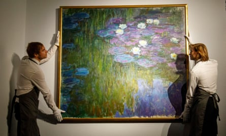 A waterlily painting by Monet