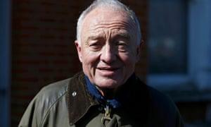 Former London Mayor Ken Livingstone leaves his home in London on Friday