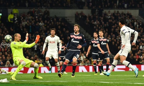 Harry Kane and Son Heung-min hit doubles as Tottenham thrash Red Star