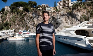 Milos Raonic at the port of Fontvielle in Monaco