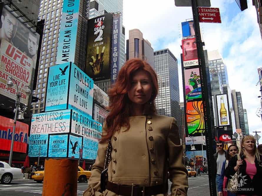 Russian agent Anna Chapman in New York, June 2010