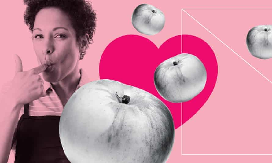 Image of woman and apples