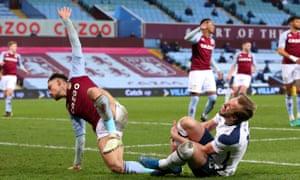 Matthew Cash fouls Harry Kane.