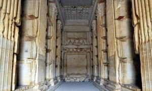Inside the Elhbel tomb.