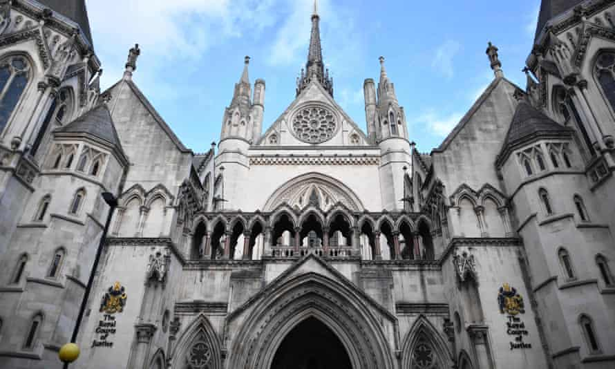 The Royal Courts of Justice, where the high court is located, in London.