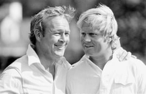 4 April 1973. Palmer and Nicklaus on the course of Augusta national golf club in Augusta, Georgia.