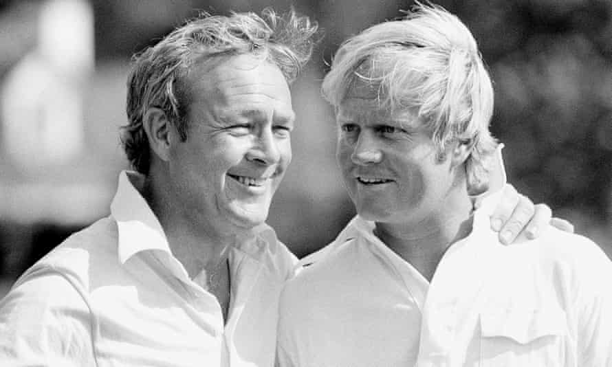Arnold Palmer and Jack Nicklaus at Augusta in 1973