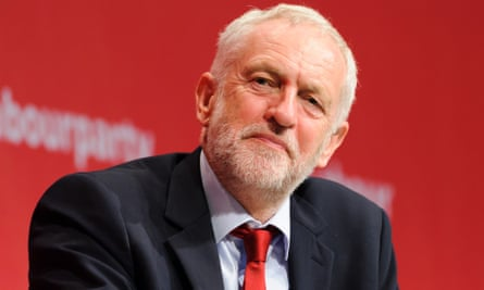 Jeremy Corbyn at Labour conference in Brighton