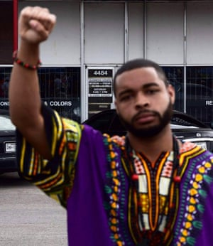 Micah Johnson in a photo from his Facebook page, which has since been taken down.