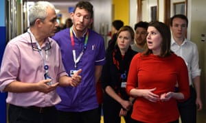 Jo Swinson, Liberal Democrat leader, visits Southampton University Hospital during the campaign trail last week.