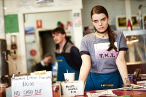 Chloe (Sianoa Smit-McPhee) at Roadhouse in The Kettering Incident.