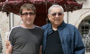 Simon Andree (left) with his father Karl Andree who has been threatened with 350 lashes in Saudi Arabia after being caught with home-made wine.