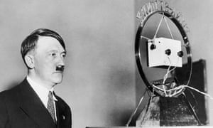 Adolf Hitler makes his first radio broadcast as German Chancellor, February 1933.
