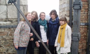 Christian Clarkson (far left) with classmates on a study trip to the Palazzo Pubblico in Siena in 2008