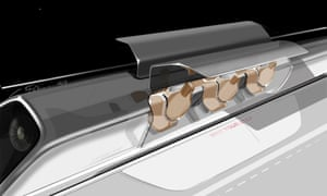 A conceptual drawing for the Hyperloop project.
