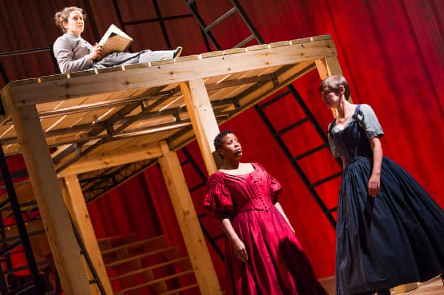 Madeleine Worrall, Melanie Marshall and Laura Elphinstone in Jane Eyre at the National Theatre in 2015.