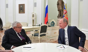 Putin met with Henry Kissinger in Moscow Thursday.