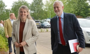 Rachael Maskell with the Labour leader, Jeremy Corbyn, in York during the general election campaign