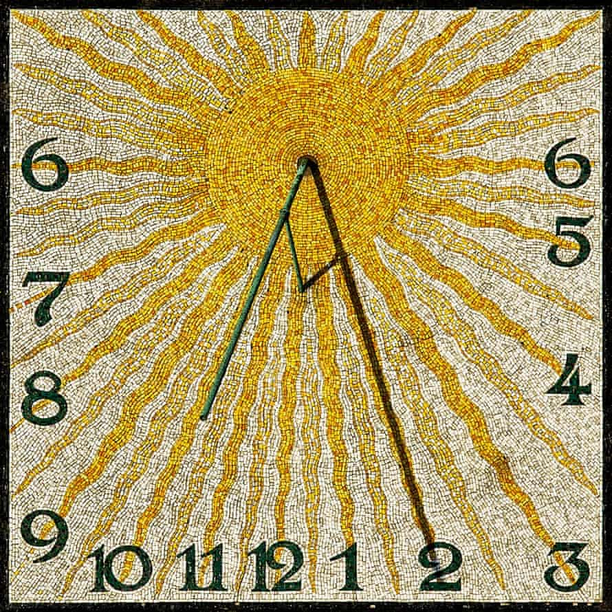 Sundial on the Wedding Tower on the Darmstadt Mathildenhöhe.
