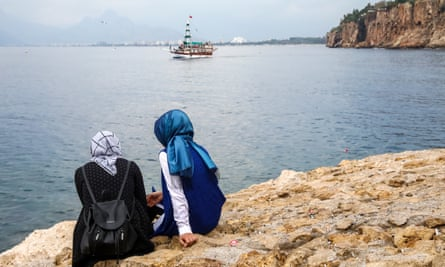 Tourists in Antalya