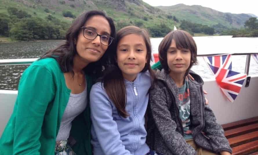 Anupa Roper with Maya and Ayden.