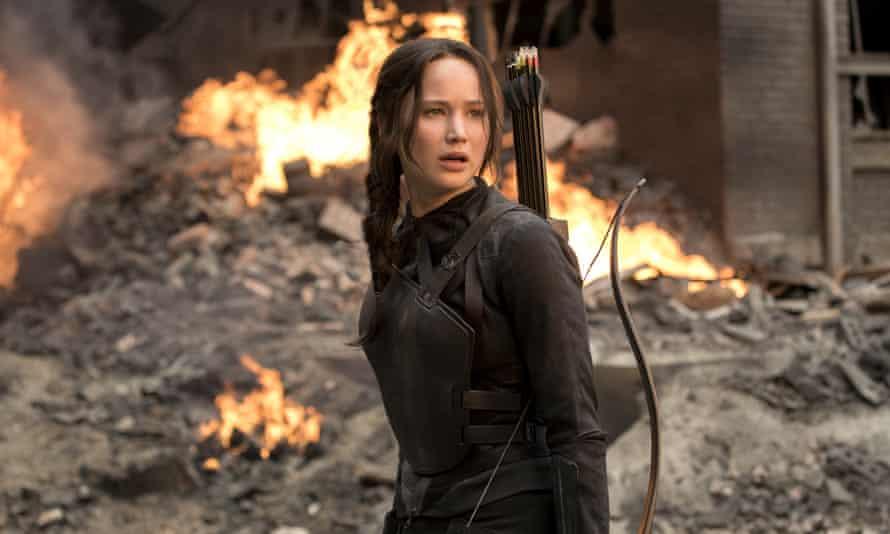 JENNIFER LAWRENCE as Katniss Everdeen in Film 'THE HUNGER GAMES: MOCKINGJAY - PART 1'