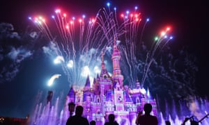 Global appeal: fireworks exploding over the castle at an event to mark the first anniversary of the opening of Shanghai Disneyland.