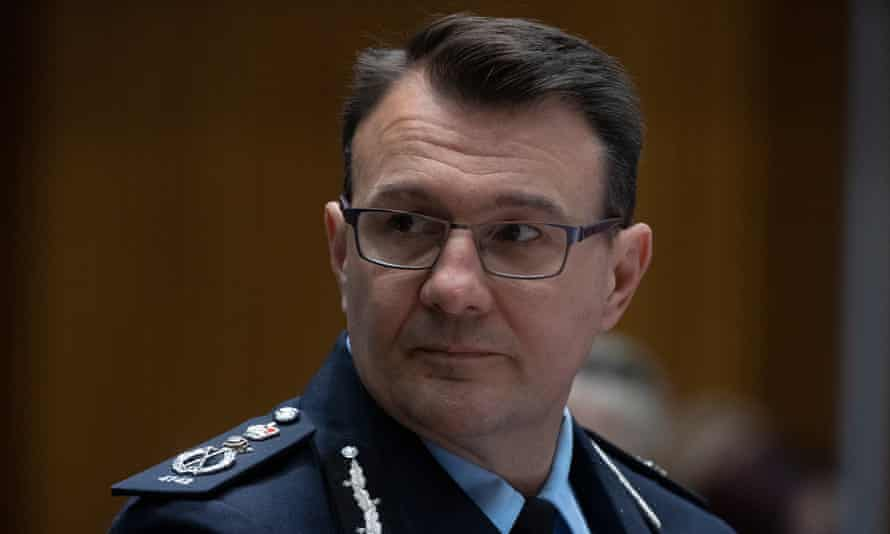 The Australian federal police commissioner Reece Kershaw