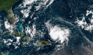 Hurricane Dorian leaves the Caribbean Sea and tracks towards the Florida coast.