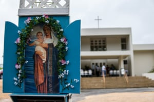 The annual fiesta mass at Our Lady of Purification church in Maina, Guam.