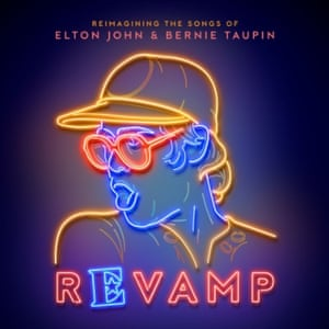 The artwork for Revamp, the poppier of two forthcoming Elton John covers collections.
