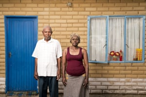 Vuyani Elliot Duadube and his wife Pamela