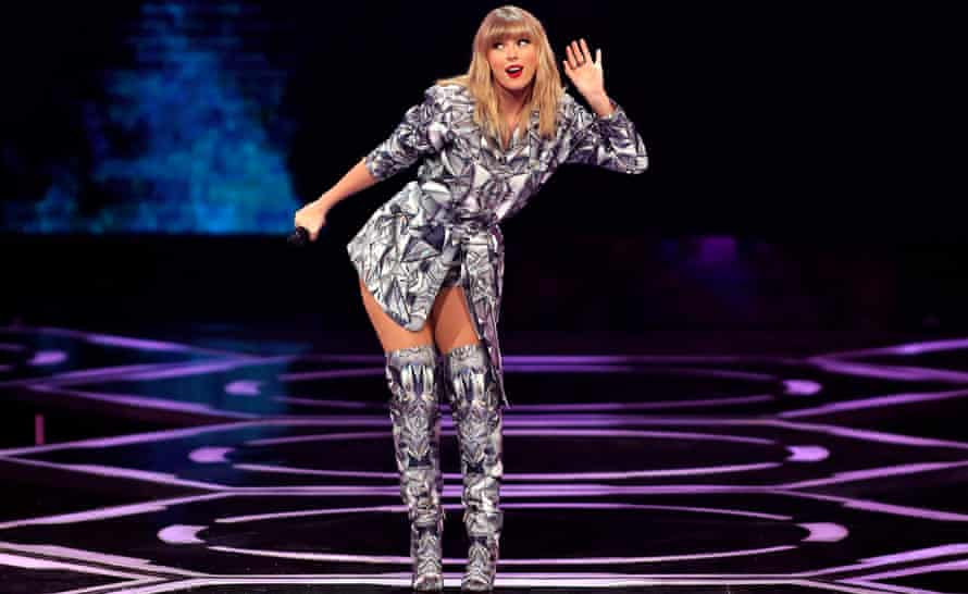 Taylor Swift performs in Shanghai, China, on 10 November.