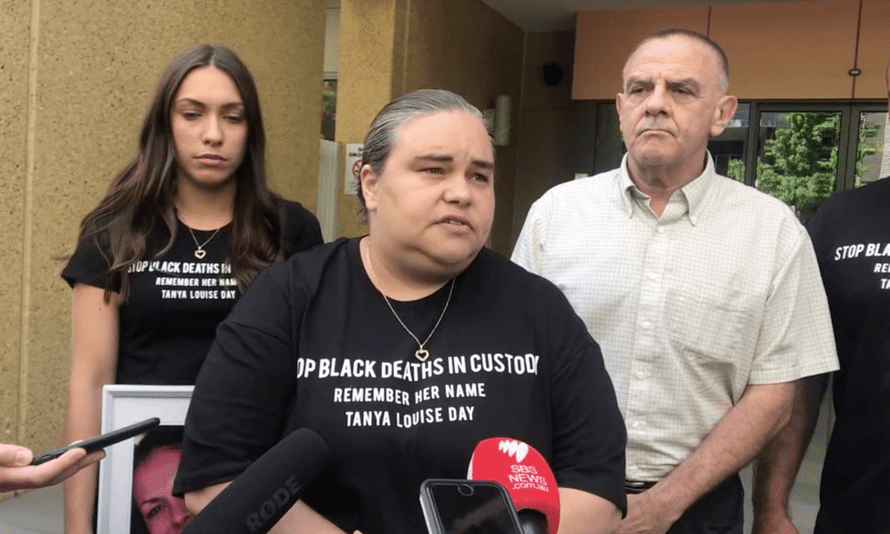 Tanya Day's eldest daughter, Belinda Stevens, centre, with Apryl Watson and Warren Stevens. Belinda Stevens said abolishing Victoria's public drunkenness law would mean her mother did not die in vain