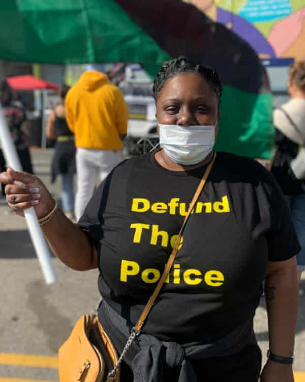 Chiquita Twyman at a recent protest.