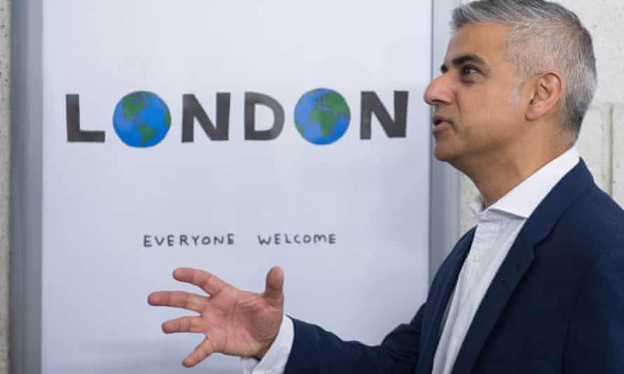London Mayor Sadiq Khan unveils a new poster