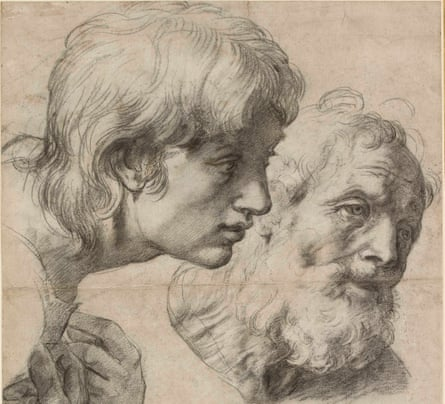 Tenderness … The Heads and Hands of two apostles, circa 1519-20, Raphael.